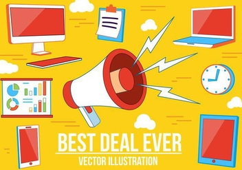 Free Best Deal Vector Illustration - бесплатный vector #375181