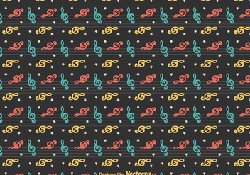 Free Vector Violin Key Pattern - vector #375191 gratis