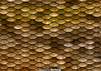 Brown Fish Scales Vector Pattern - Free vector #375241