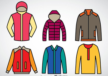 Winter Coat Vector Set - бесплатный vector #375331