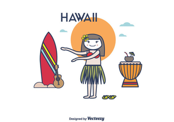 Hawaii Vector - vector gratuit #375361