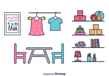 Kids Stuff Vector - vector #375371 gratis