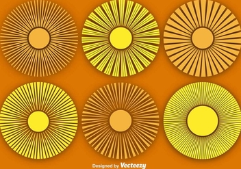 Vector Abstract Sun Icons Set - vector gratuit #375581