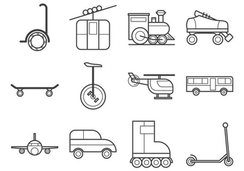Free Transportation Icon Vector - Kostenloses vector #375641