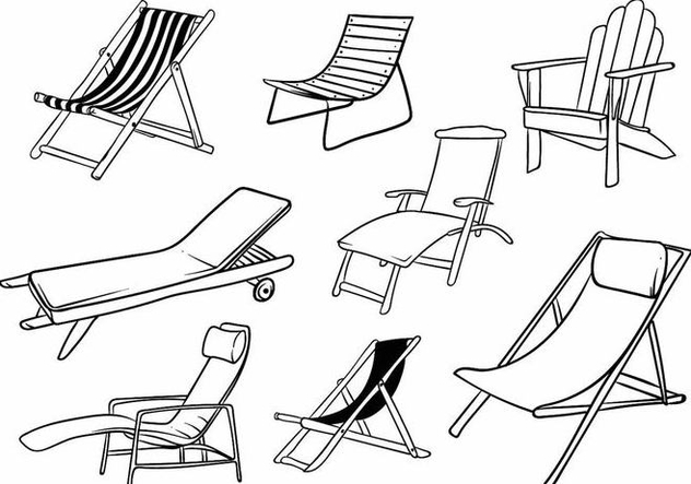 Deck Chair Set - Free vector #375651