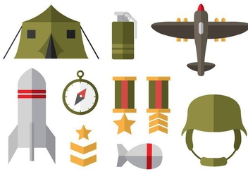 Free World War 2 Flat Icons - vector #375671 gratis