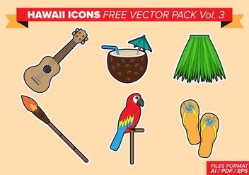 Hawaii Icons Free Vector Pack Vol. 3 - Free vector #375691