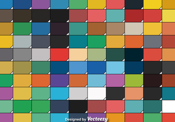 Cool Set Of One Hundred Vector Color Swatches - бесплатный vector #375701