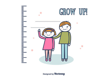 Grow Up Vector Background - Free vector #375721