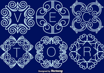 Set Of Elegant Monograms, Vector - vector gratuit #375731
