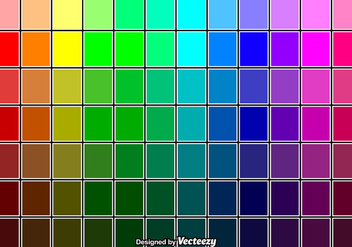 Cool Vector Color Swatches - бесплатный vector #375761