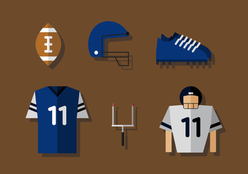 Vector American Football - Kostenloses vector #375811