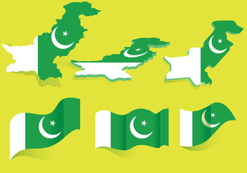 Pakistan Flag Vector - бесплатный vector #375861