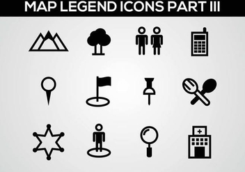 Free Map Legend Part III Vector - Kostenloses vector #375911