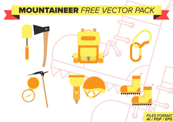 Mountaineer Free Vector Pack - vector gratuit #375931