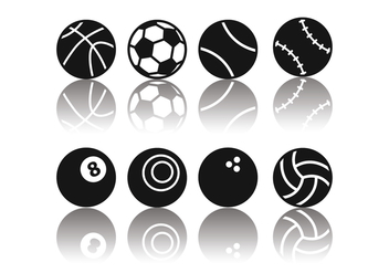 Free Minimalist Sport Ball Icons - Kostenloses vector #376011