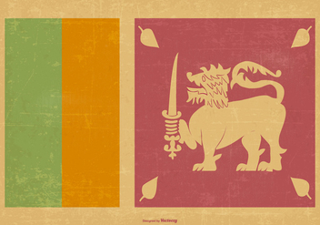 Vintage Flag of Sri Lanka - бесплатный vector #376061