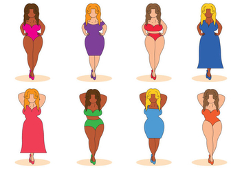 Free Girl Plus Size Vector - Free vector #376071