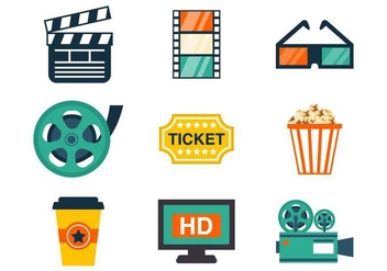 Free Cinema Icons Vector - vector gratuit #376101
