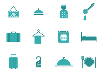 Free Concierge and Hotel Blue Vectors - vector gratuit #376181