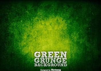 Green Grunge Background/Vector Rusty Texture - Kostenloses vector #376201