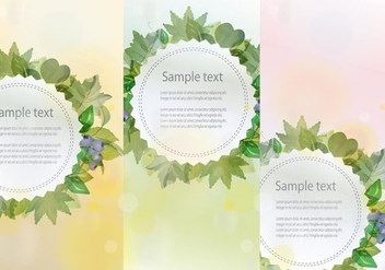 Banners Hojas - Free vector #376321