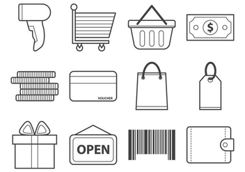 Free Shopping Icon Vector - vector gratuit #376331