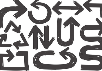 Vector Collection Of Sketch Arrows - Free vector #376351