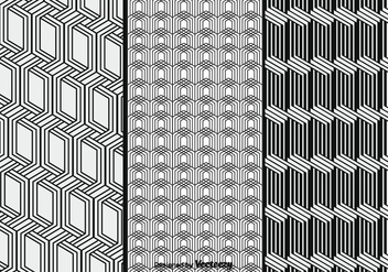 Monochrome Vector Patterns Set - vector gratuit #376371
