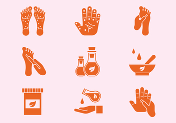 Reflexology Icons - бесплатный vector #376491