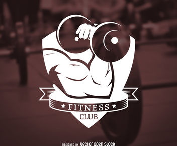 Fitness club label logo - vector gratuit #376521
