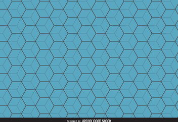 Blue hexagon pattern background - бесплатный vector #376551
