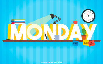 Monday study sign - vector gratuit #376591