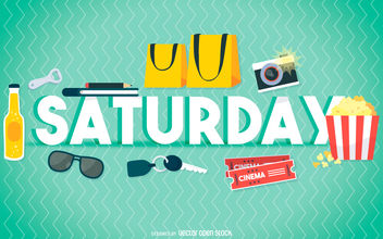 Saturday entertainment poster - Free vector #376601