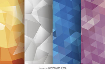 Abstract polygonal background set - vector gratuit #376851