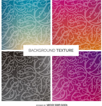 Gradient swirl background texture set - vector #376891 gratis