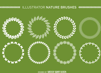 Illustrator nature brushes collection - vector gratuit #376941