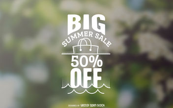 Big summer sale label - vector gratuit #377061