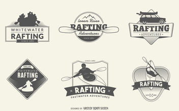 Rafting logo set - vector gratuit #377101