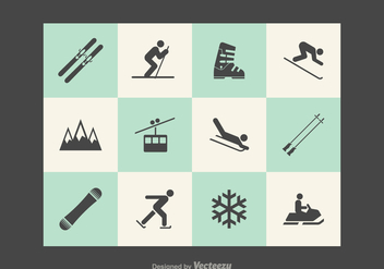 Free Wintersport Vector Icons - Free vector #377151