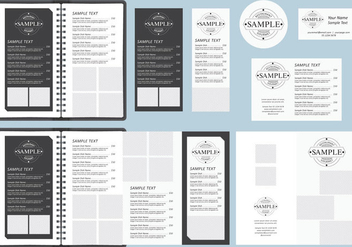 B&W Menu Templates - vector gratuit #377181