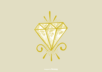 DIAMOND - LINE DRAWING - Free vector #377191