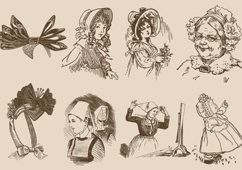 Old Style Bonnets - Free vector #377201