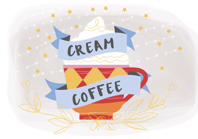 Free Coffee Cream Vector Background - бесплатный vector #377231
