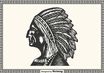 Free Hand Drawn Native American - vector gratuit #377251