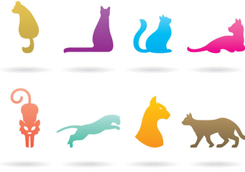 Cat Logo Vectors - бесплатный vector #377281