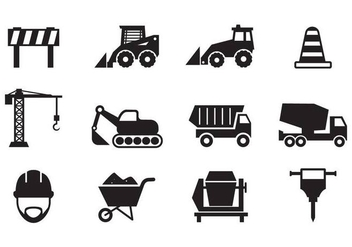 Free Construction Icons Vector - vector gratuit #377351