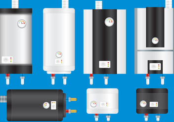 Water Heaters - vector gratuit #377361