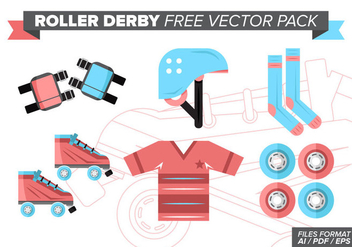 Roller Derby Free Vector Pack - бесплатный vector #377381