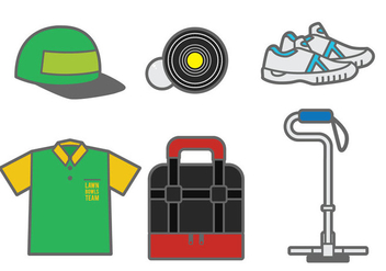Lawn Bowls Vector Elements - Kostenloses vector #377391